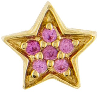 Andrea Fohrman Mini Pink Sapphire Star Single Stud - Yellow Gold