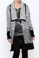 Katherine Barclay Black White Sweater