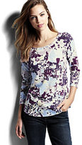 Classic Women's 3/4 Sleeve Art T-shirt-Weathered Grape Floral