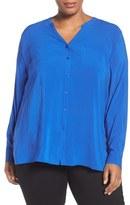 Sejour Plus Size Women's Two-Pocket Top