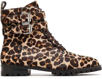 Rebecca Minkoff Buckled Leopard-print Calf Hair Ankle Boots