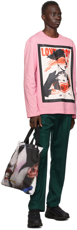 Thumbnail for your product : Charles Jeffrey Loverboy Pink Wink Long Sleeve T-Shirt