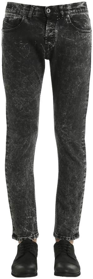 Diesel Black Gold 17cm Slim Fit Bleached Denim Jeans