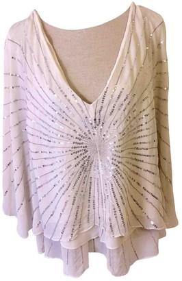BCBGMAXAZRIA White Silk Top for Women