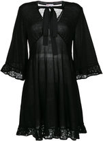 RED Valentino lace trim flared dress - women - Acrylic/Polyester/Wool/Virgin Wool - XS