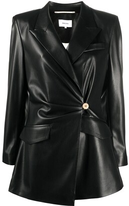 Nanushka Blair vegan leather fitted blazer