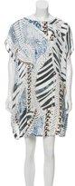Pierre Balmain Silk Pattern Printed Shift Dress