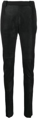Ilaria Nistri slim fit leather trousers