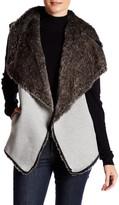 Dolce Cabo Faux Fur Knit Vest