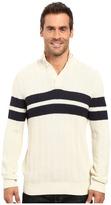 Nautica 9 Gauge Chevron Striped Mock Neck Sweater