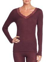 Hanro Woolen Lace Long-Sleeve Top