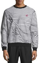 McQ by Alexander McQueen Trompe L'Oeil Broken-Stripe Sweatshirt