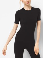 Michael Kors Stretch-Viscose Crewneck T-Shirt