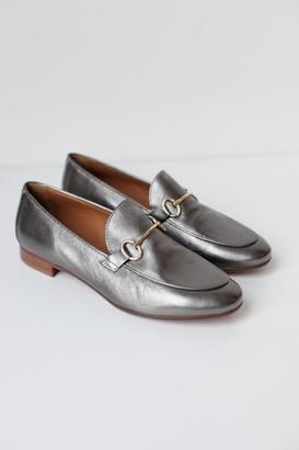 Portamento - Lea Bronze Pewter Loafers - 39