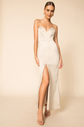 superdown Courtney Strapless Maxi Dress