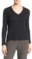 Eileen Fisher Women's Organic Linen & Cotton V-Neck Sweater