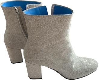 Balenciaga \N Silver Glitter Ankle boots