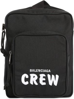 Balenciaga Logo Embroidery Eco Nylon Camera Bag
