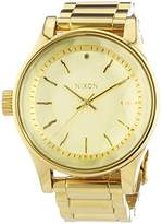 Nixon 384502-00-A Women's Quartz Analogue Watch-Stainless Steel Strap Golden