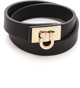Salvatore Ferragamo Gancini Lock Wrap Bracelet