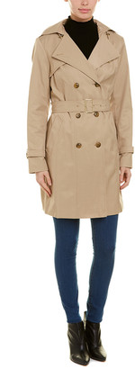 Cole Haan Double-Breasted Trench Coat