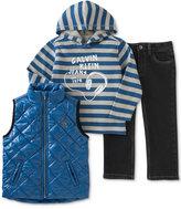 Calvin Klein Little Boys' 3-Pc. Vest, Hoodie & Pants Set
