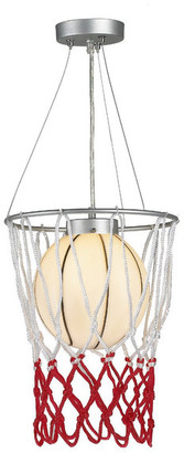 Design Living Basketball Light Fixture With Net