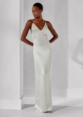 Ralph Lauren Leiani Silk Halter Dress