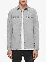 AllSaints Giro Denim Shirt, Grey