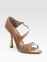 Oscar de la Renta Oberon Velvet Sandals