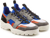 Ami Running Sneakers in Neoprene, Suede, Leather and Mesh