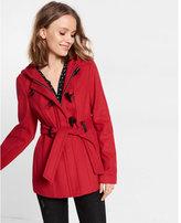 Express hooded toggle coat