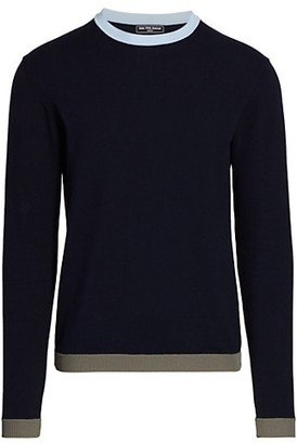 Saks Fifth Avenue MODERN Colorblock Tip Crewneck Sweater