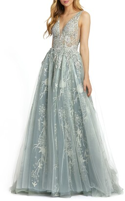 Mac Duggal Embellished Tulle Ballgown