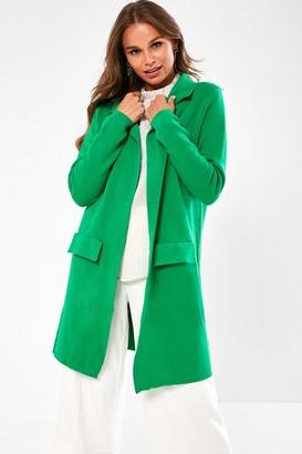 Iclothing Havana Longline Cardigan in Green