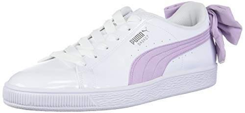 quality design f4869 f2bca Women's Basket Bow Sneaker White Black