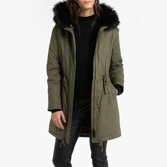 Anne Weyburn Mid-Length Hooded Winter Parka