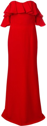 Alexander McQueen Dropped Sleeves Evening Dress