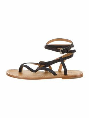 Isabel Marant Calf Leather Gladiator Sandals Black