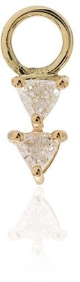 Lizzie Mandler Fine Jewelry 18kt Gold Diamond Earring Charm