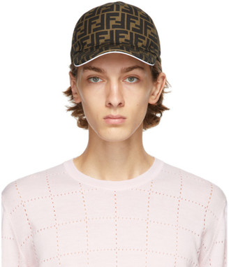 Fendi Brown and White Forever Cap