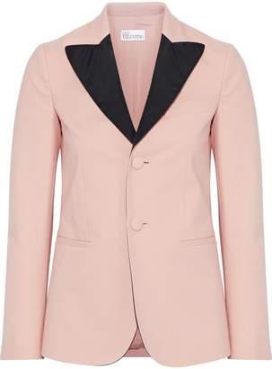 RED Valentino Satin-trimmed Cotton-blend Blazer