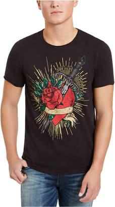 GUESS Men Heart and Dagger T-Shirt