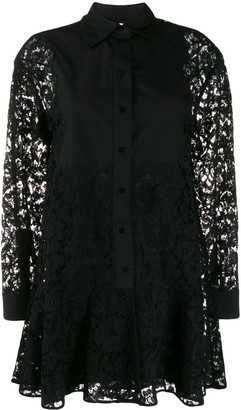 Valentino Short Button-Up Lace Dress