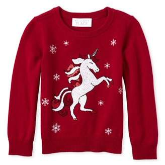 Children's Place The Christmas Unicorn Graphic Sweater (Baby Girls & Toddler Girls)