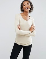 Asos T-Shirt With Long Sleeve and Scoop Neck