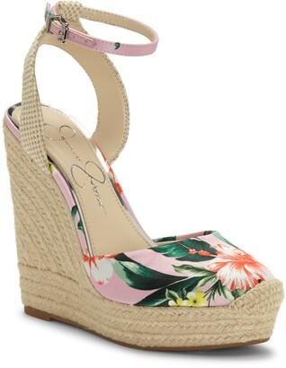 Jessica Simpson Zestah Ankle Strap Espadrille Wedge