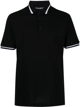 Dolce & Gabbana Embroidered-Logo Polo Shirt