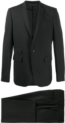 Les Hommes Multi-Pocket Single-Breasted Suit