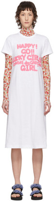 COMME DES GARÇONS GIRL White Cotton Logo T-Shirt Dress